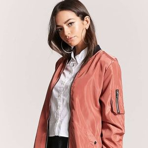 [NEW] Forever 21 Bomber Jacket, M, dusty pink